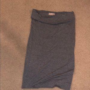 Loft Size XXS Grey Bodycon Skirt